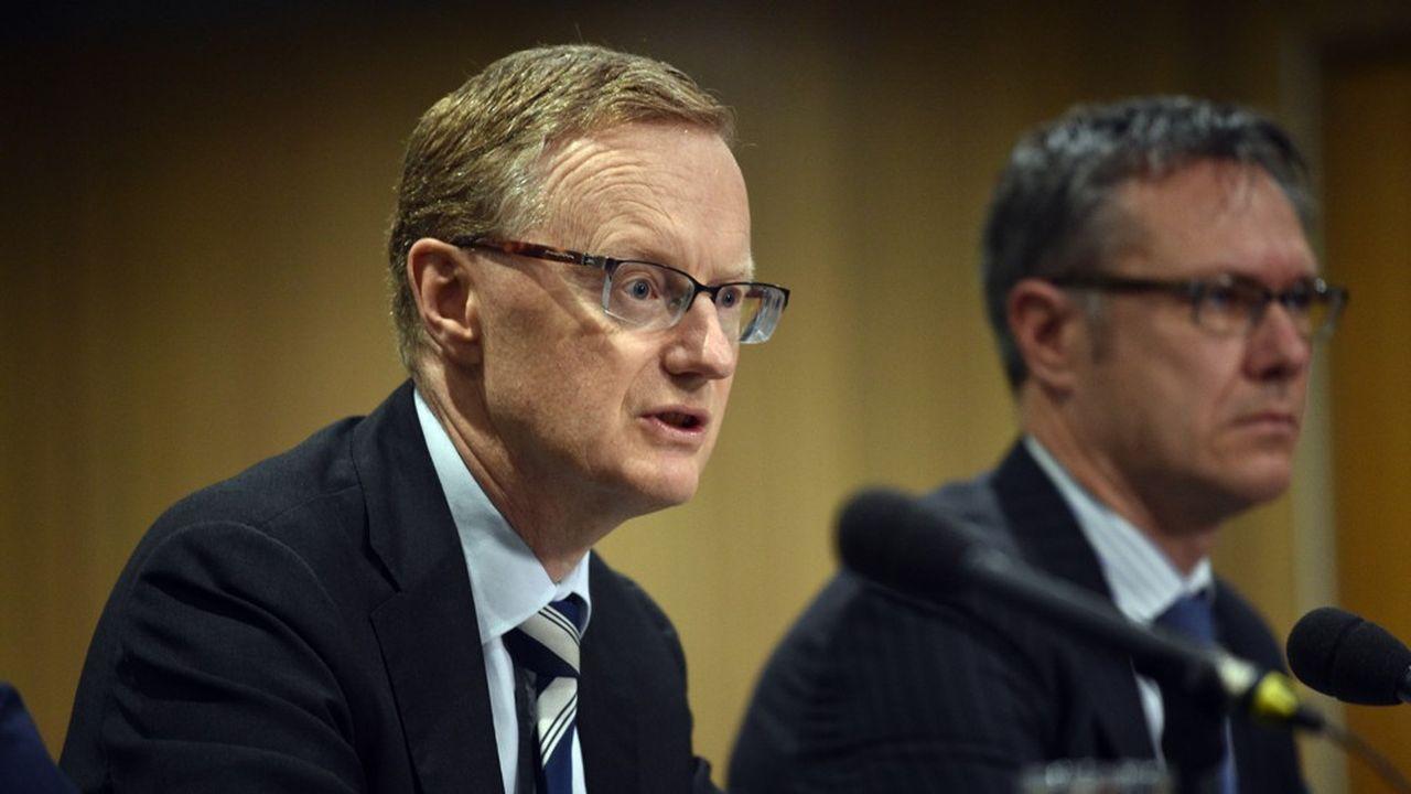 Le gouverneur de la Reserve Bank of Australia, Philip Lowe (à gauche).