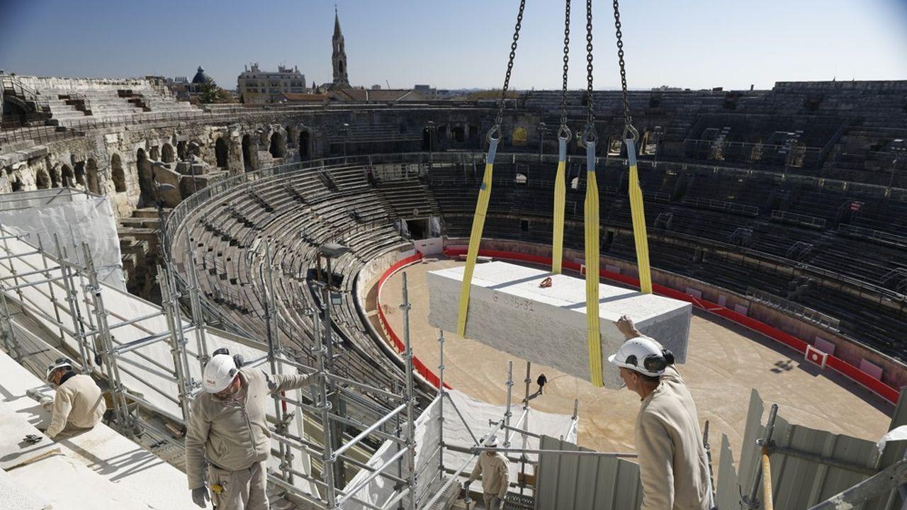 A partir de début 2020, l'entrée impériale des arènes sera restaurée.