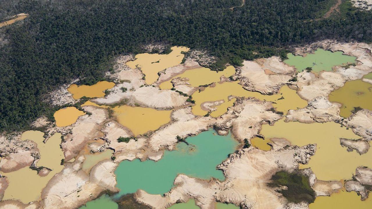 Dans le sud-est du Pérou, l'activité minière illégale et l'utilisation du mercure pour extraire l'or continuent de causer des dégâts irréversibles à la forêt amazonienne.