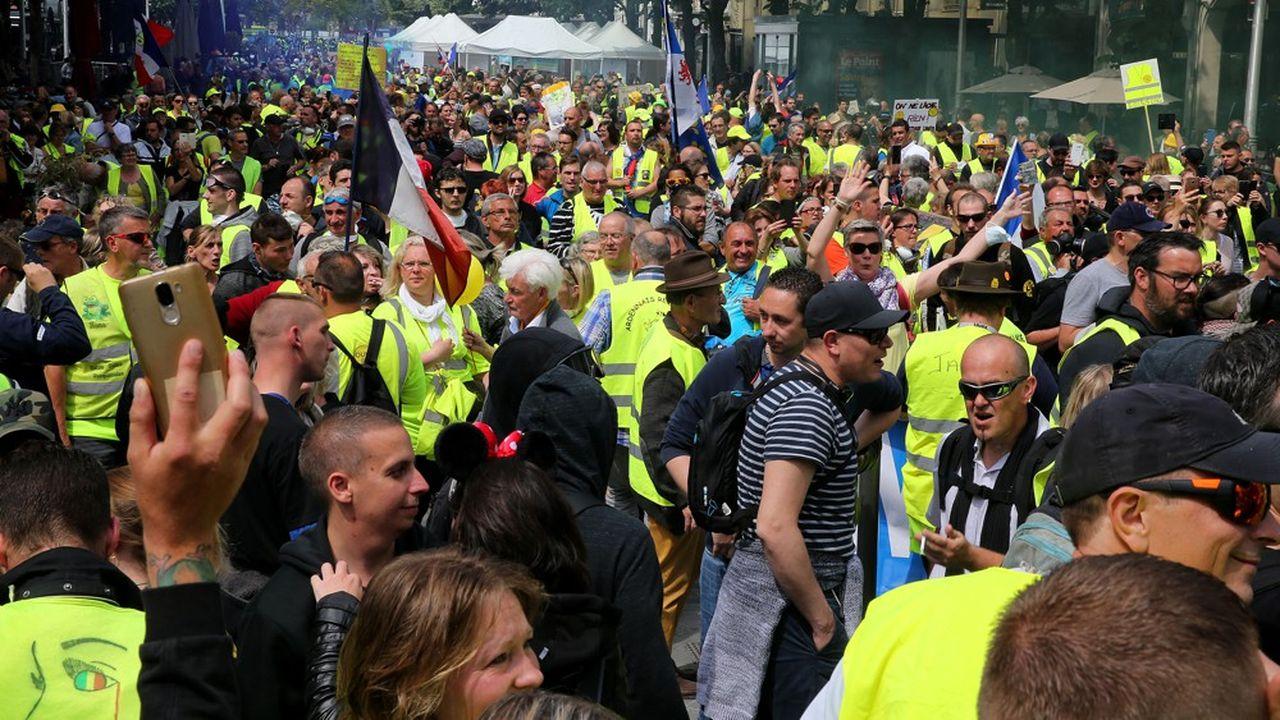 Après un pic au début du mouvement, le 17novembre, à 288.000 manifestants, la mobilisation a progressivement faibli jusqu'à 6.000 «gilets jaunes» samedi dernier, pour «l'acte 33».
