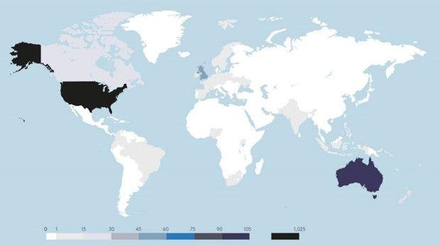 Pays où des actions en justice concernant le dérèglement climatique ont été intentées.