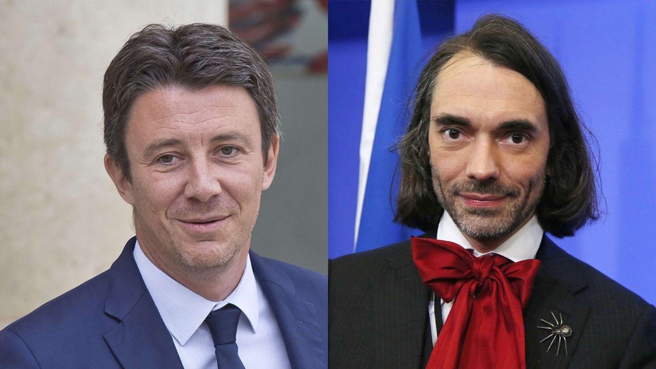 Benjamin Griveaux (à gauche) et Cédric Villani, tous deux députés LREM, s'affrontent pour obtenir l'investiture du parti présidentielle pour les municipales à Paris.