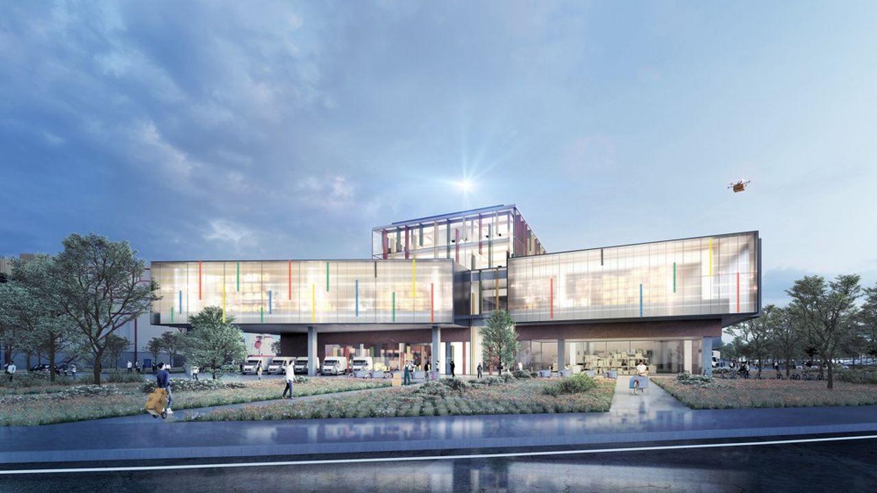 Les filiales de La Poste, Urbi, Chronopost, DPD, garantissent l'occupation d'un quart des surfaces dès l'ouverture du futur hôtel logistique en 2022