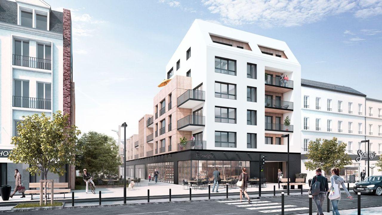 Un projet d'immeuble HLM auHavre.