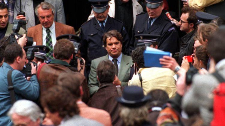 Bernard Tapie, en 1995, lors du verdict du procès VA-OM.