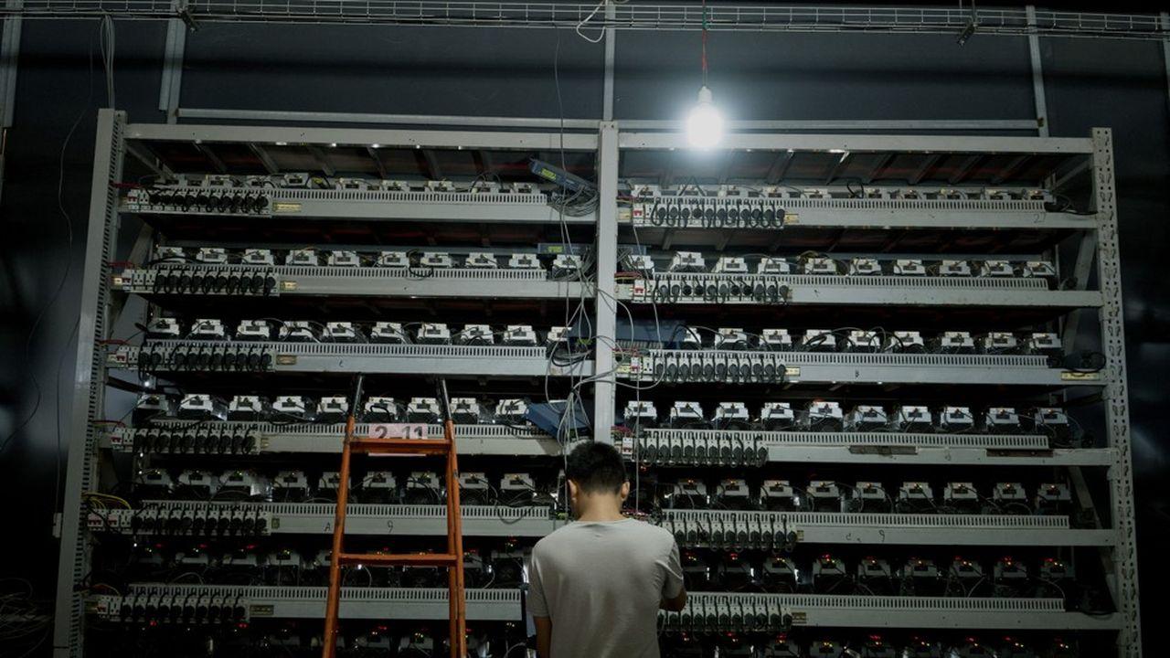 Les géants du minage comme Bitmain (photo) fournissent les ordinateurs permettant de sécuriser les cryptomonnaies.