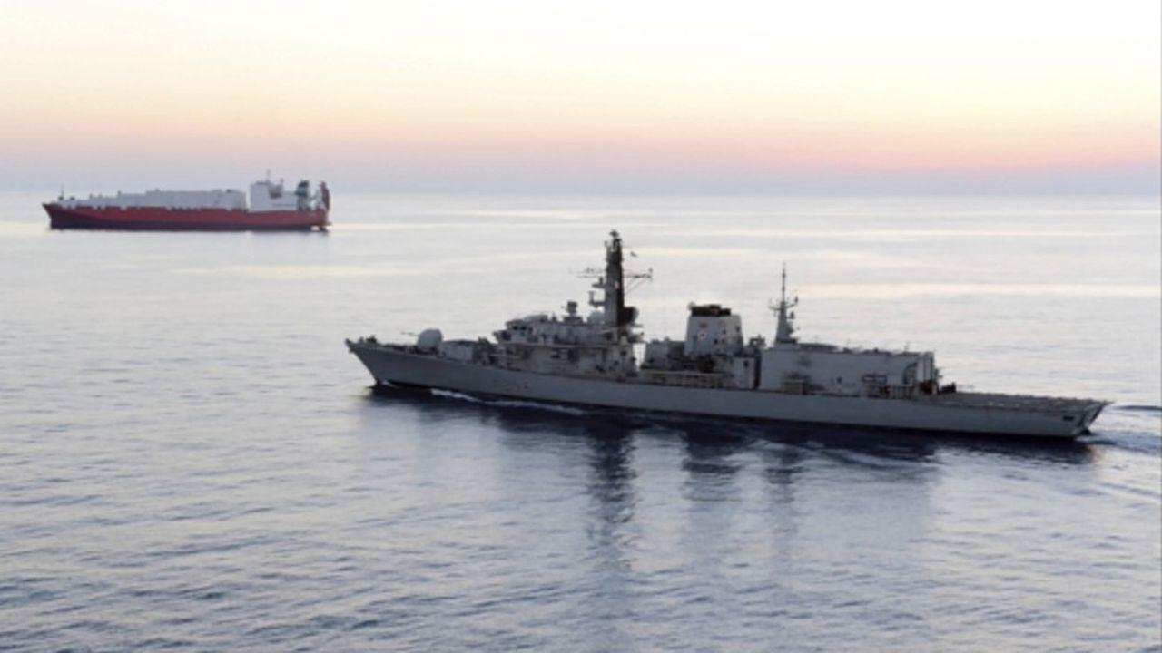 La Royal Navy a dû dépêcher le HMS Montrose pour escorter le navire pétrolierBritish Heritage, bloqué par trois navires que le Royaume-Uni décrit comme appartenant à l'Iran (image d'archives)