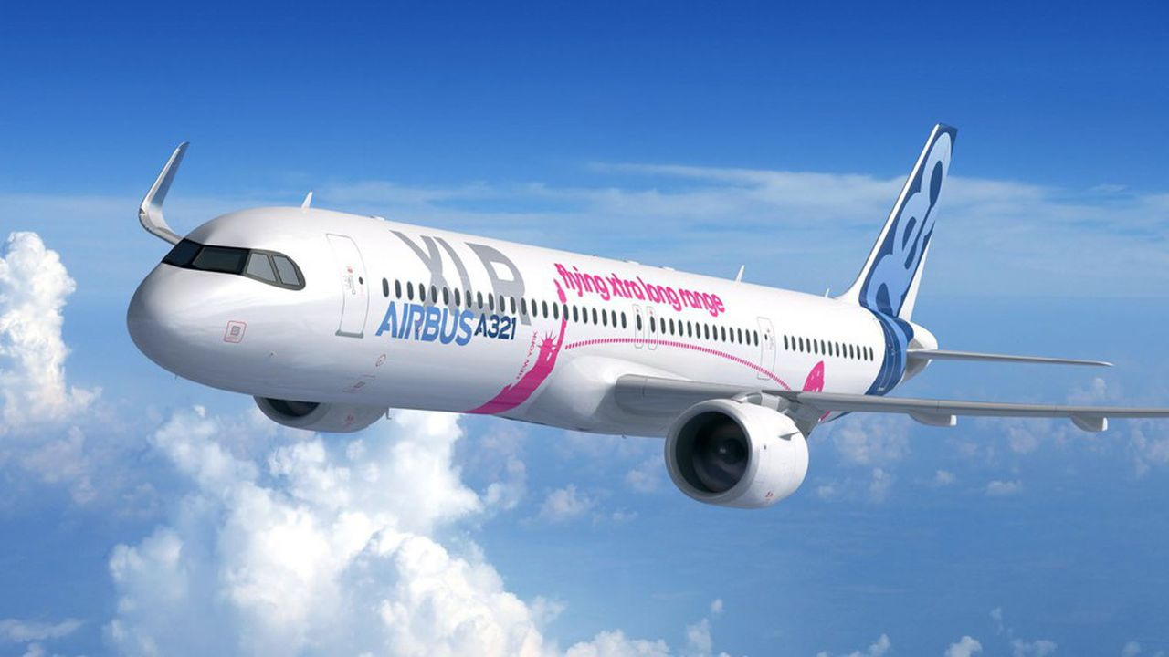 Air France pourrait passer commande à Airbus de l'A321 XLR, le nouveau monocouloir long-courrier dévoilé au Salon du Bourget.