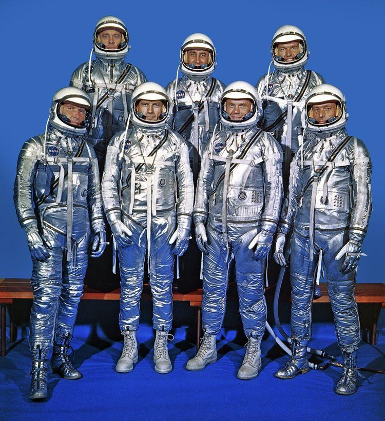 Les sept astronautes du programme Mercury.