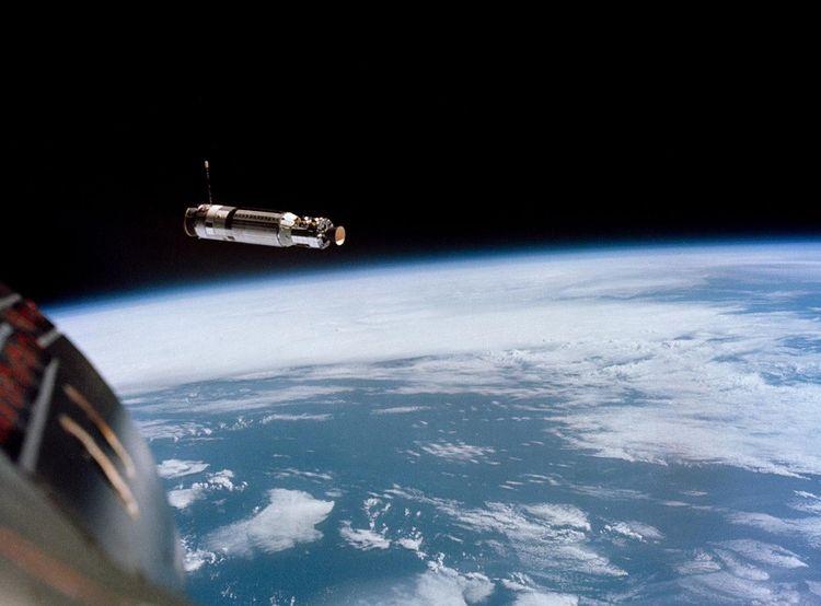 Le vaisseau cible Agena vu depuis la capsule de la mission Gemini 8.
