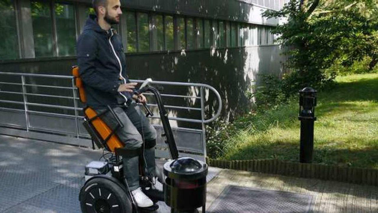 Initialement conçu pour les personnes handicapées, le Gyrolift, un fauteuil électrique disposé sur un gyropode, permet d'alléger la pénibilité du travail des personnes valides.