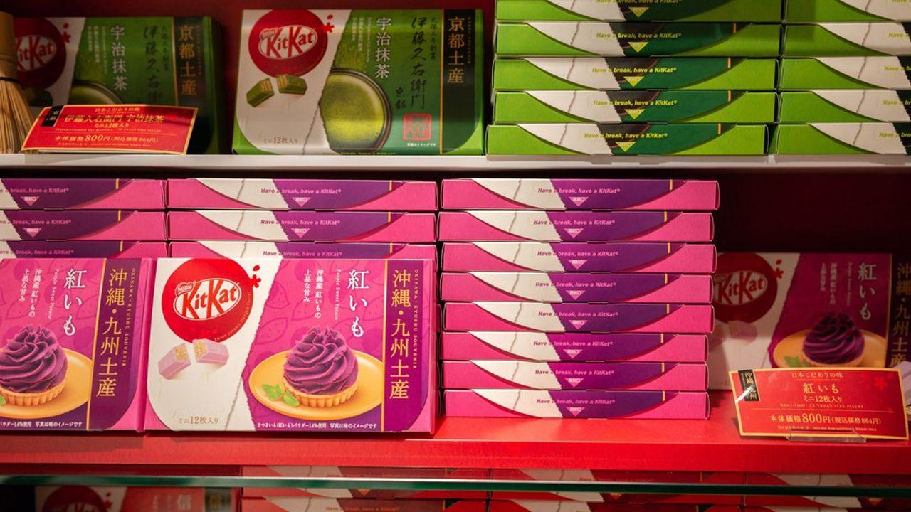 Nestlé va lancer, dès l'automne au Japon, un KitKat à base d'un chocolat noir à 70%, élaboré selon cette recette sans sucre ajouté