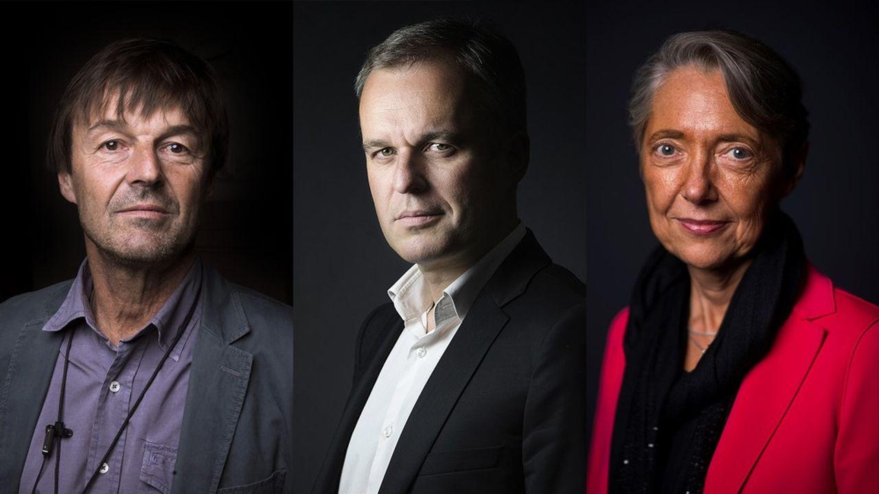 Depuis le début du quinquennat d'Emmanuel Macron, Nicolas Hulot, François de Rugy et Elisabeth Borne se sont succédé au poste de ministre de la Transition écologique