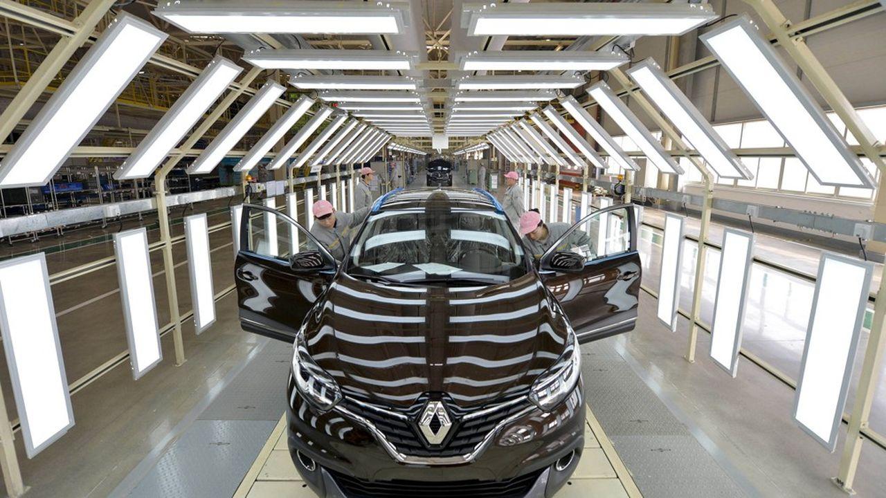 Renault vise 550.000 véhicules vendus en Chine en 2022, contre 216.000 en 2018.