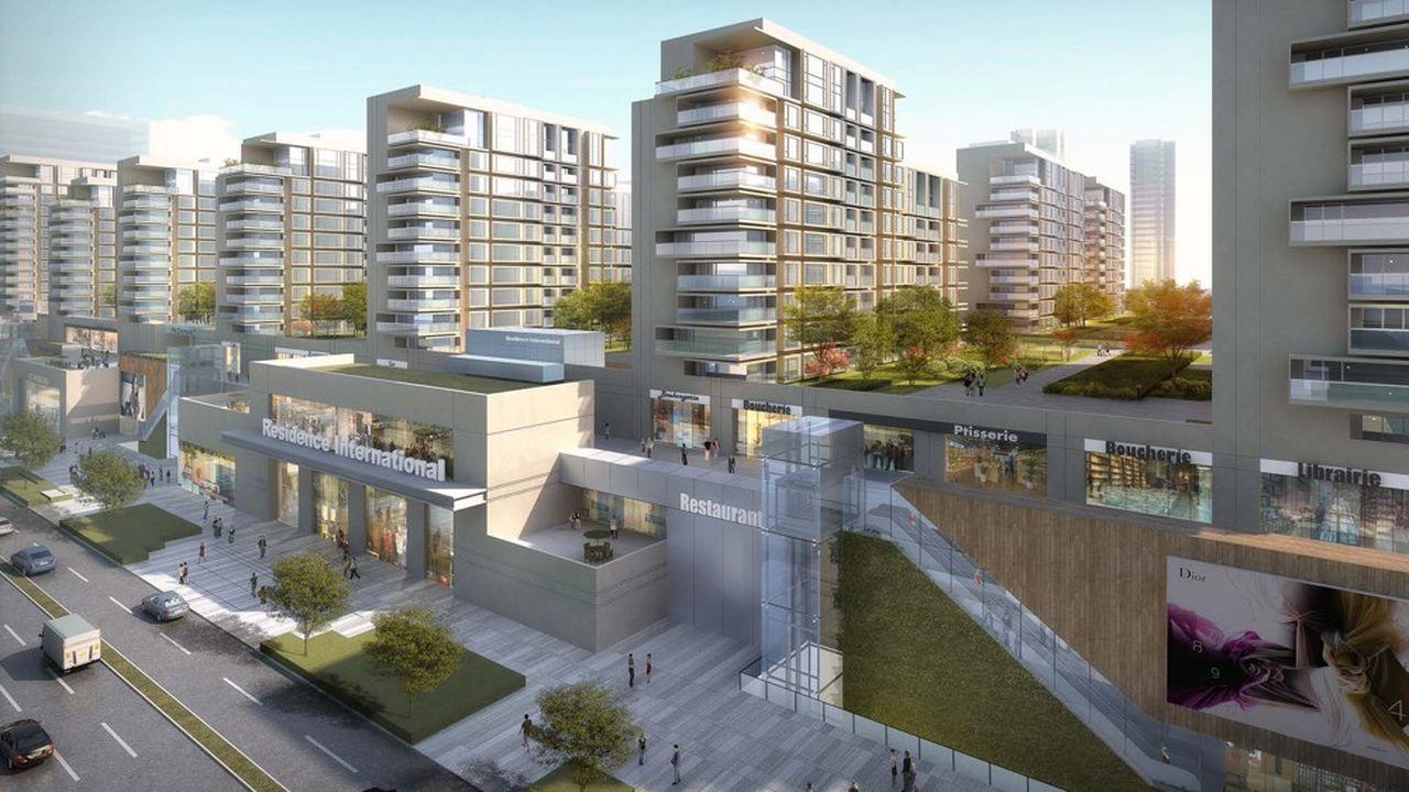 Arep, la filiale de la SNCF dédiée à l'architecture, a dessiné les plans du futur dépôt de métro de Jinqiao, à Shanghai. Les autorités locales ont prévu, au-dessus de la dalle, une opération immobilière d'un million de mètres carrés au total.