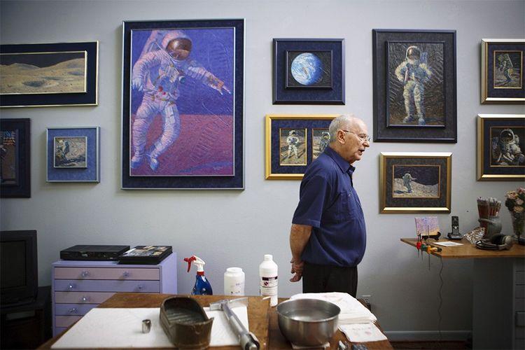 Al Bean a quitté la Nasa en 1981 pour se consacrer à la peinture et à retranscrire dans l'art ce qu'il avait vécu sur la Lune.
