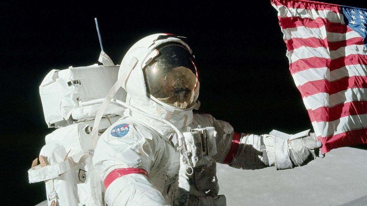 Gene Cernan, dernier astronaute à avoir posé le pied sur la Lune, en 1972.