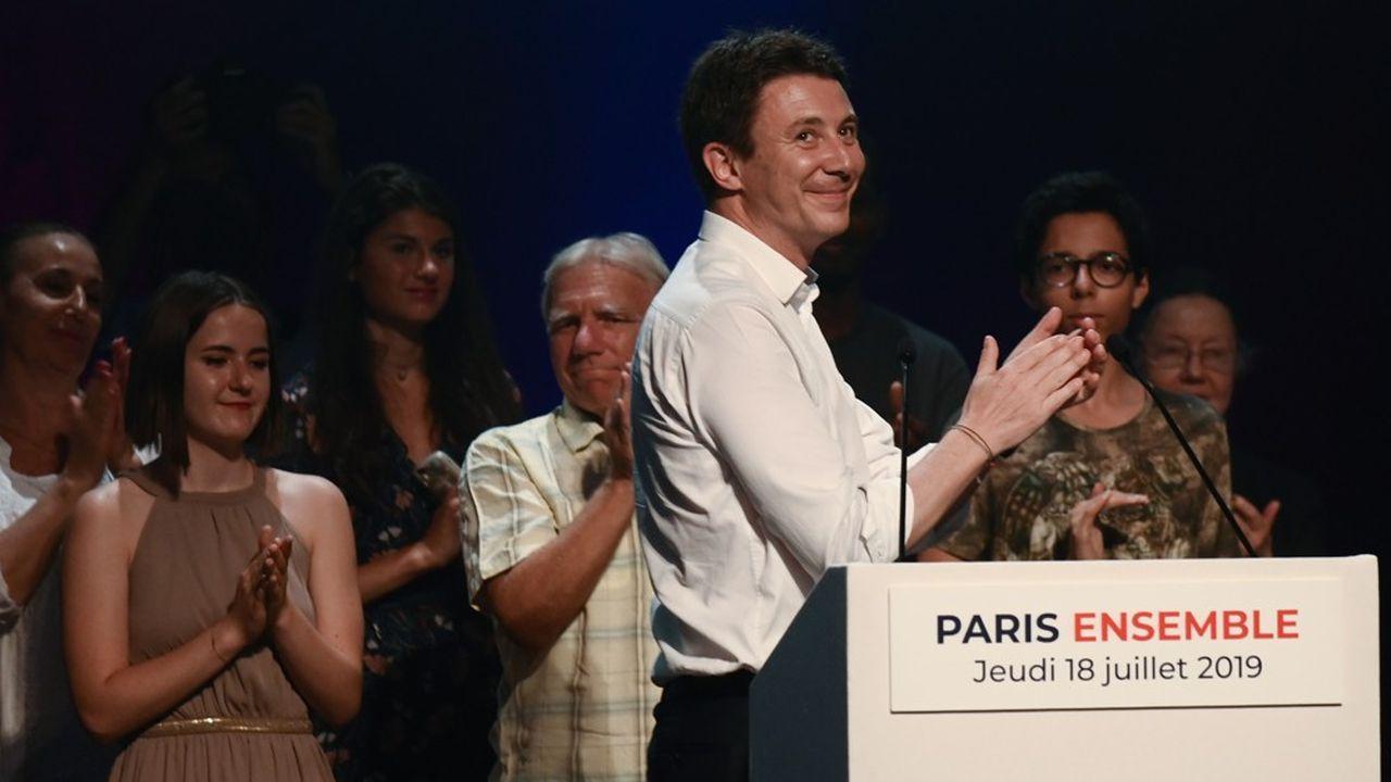 Benjamin Griveaux, lors de son premier meeting à Paris, le 18 juillet 2019.