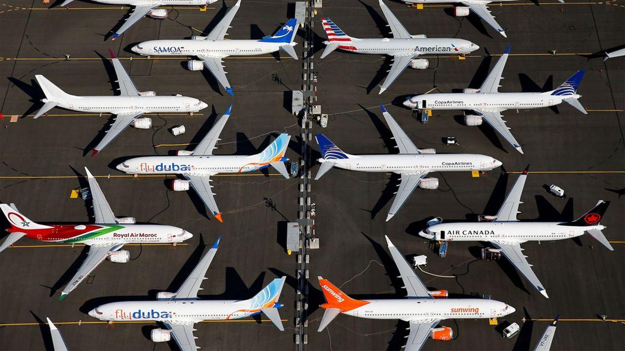 Entre les appareils des compagnies aériennes et ceux assemblés mais non livrés par Boeing, le nombre des 737 MAX cloués au sol doit approcher les 600 exemplaires.