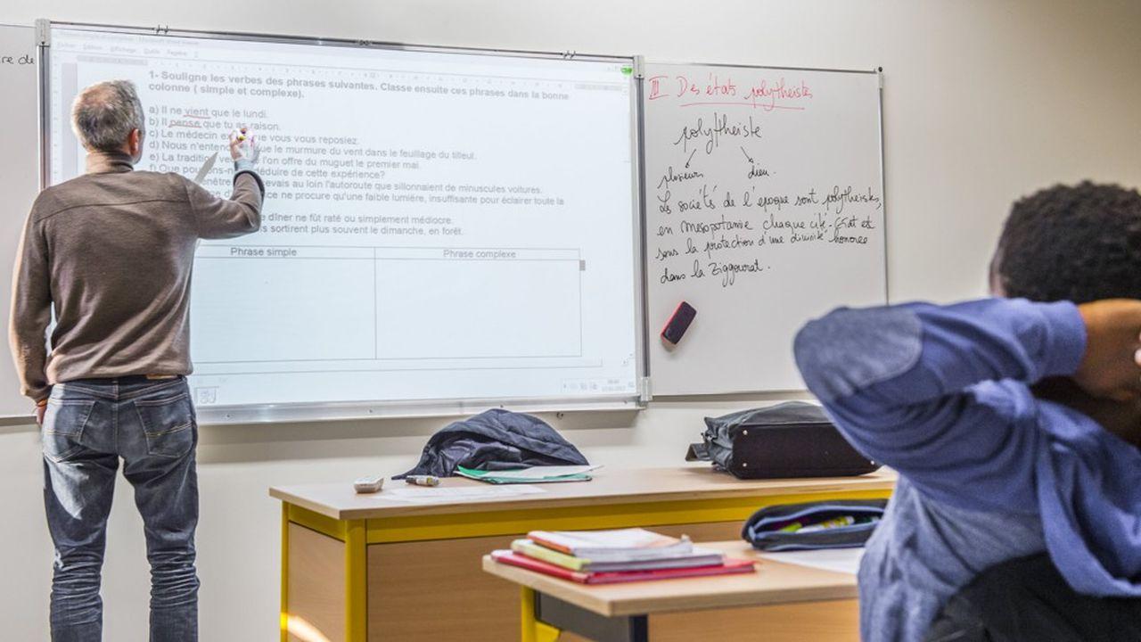 La majorité des enseignants sont aujourd'hui recrutés sur la base d'un barème automatique, en fonction de leur nombre de points.