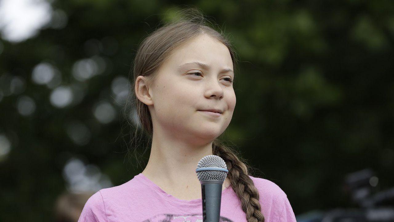 Greta Thunberg lors d'un rally pour le climat, à Berlin, le 19juillet 2019.