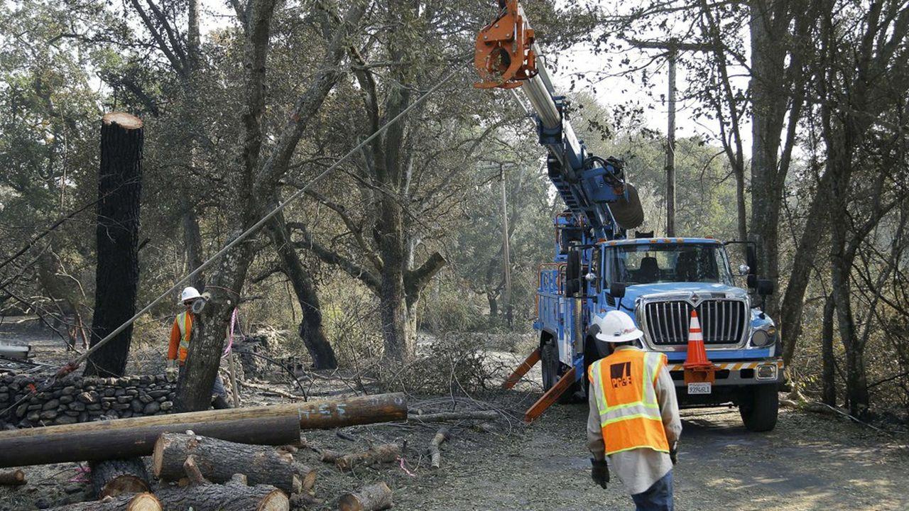 PG&E peine à recruter suffisamment de bras pour élaguer les arbres dans un Etat où règne le plein-emploi, allant même jusqu'à recourir à des intérimaires venus d'Australie.