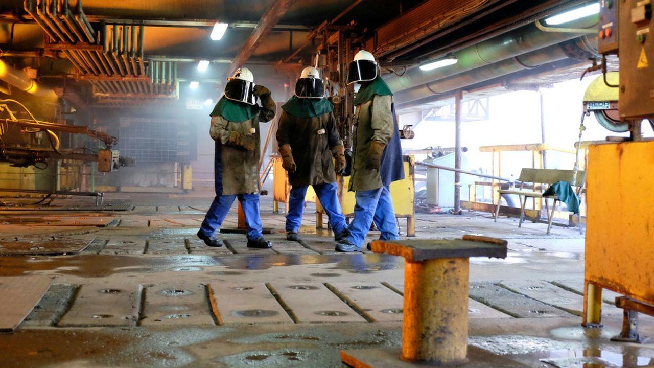 A l'intérieur de l'usine métallurgique de la SLN, la filiale nickel d'Eramet, à Nouméa en 2016.