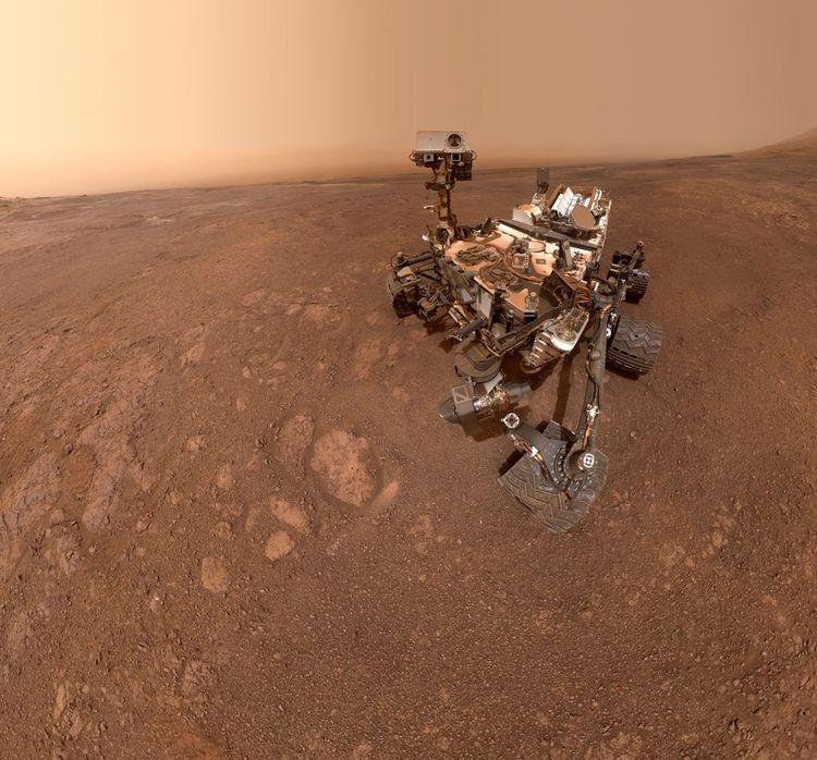 Selfie pris en janvier2019 par Curiosity, rover de 899kg, qui a atterri sur Mars en 2012.