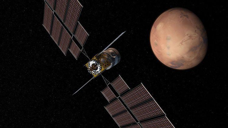 Vue concept du «Deep Space Transport» proposée par Boeing.