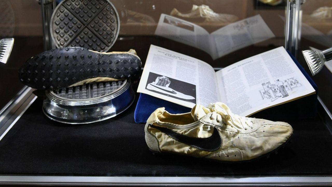 L'histoire de la ' Moon Shoe ', modèle acquis par Miles Nadal pour 437.500dollars, est intimement liée au gaufrier qui a inspiré la forme de sa semelle.