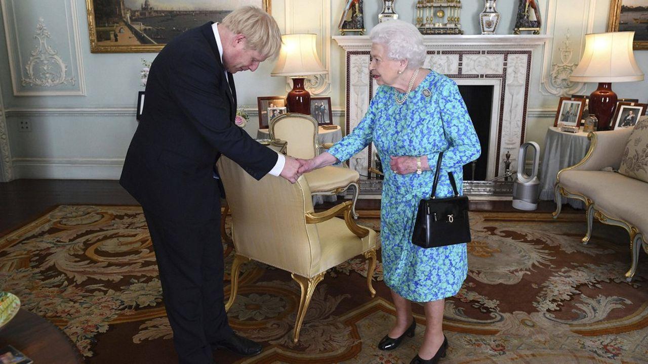 L'ex-maire de Londres venait tout juste d'être investi par la Reine, à Buckingham, lorsqu'il a prononcé son premier discours de Premier ministre.