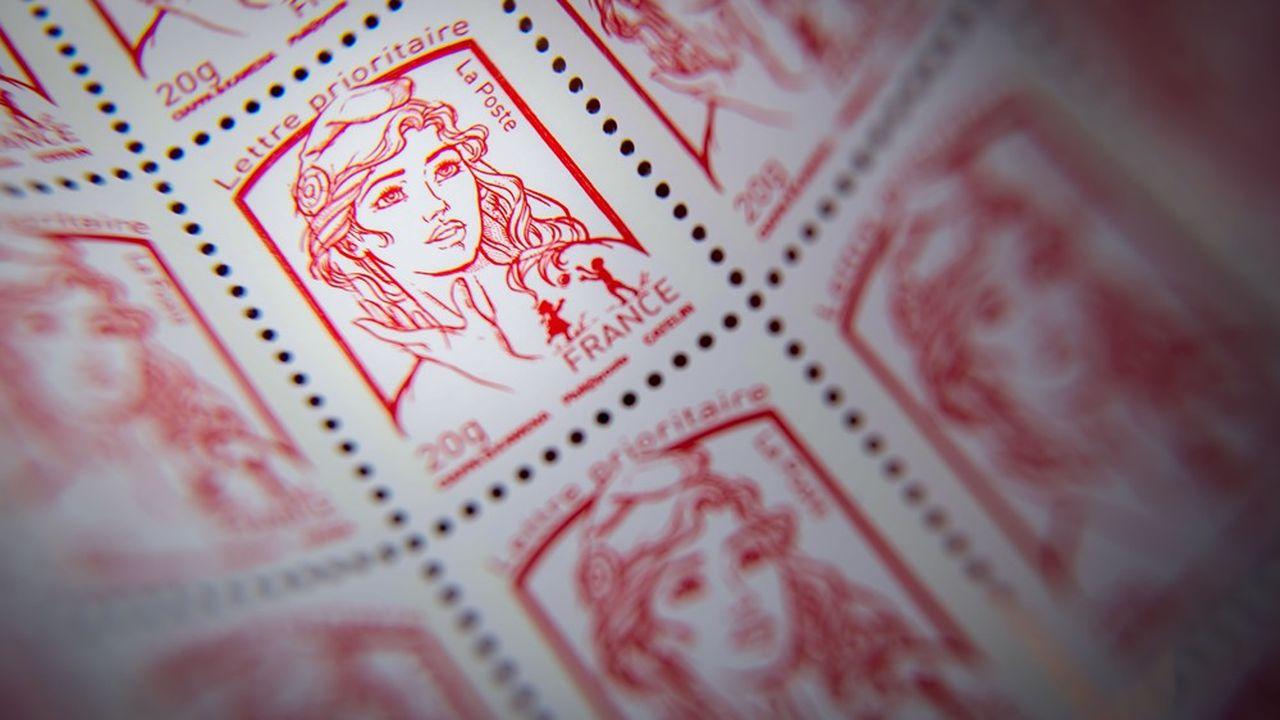 Le timbre rouge coûtera 1,16euro l'an prochain. En 2014, il ne valait que 0,66euro.