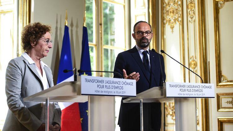 Muriel Pénicaud et Edouard Philippe, lors de la présentation de la réforme.