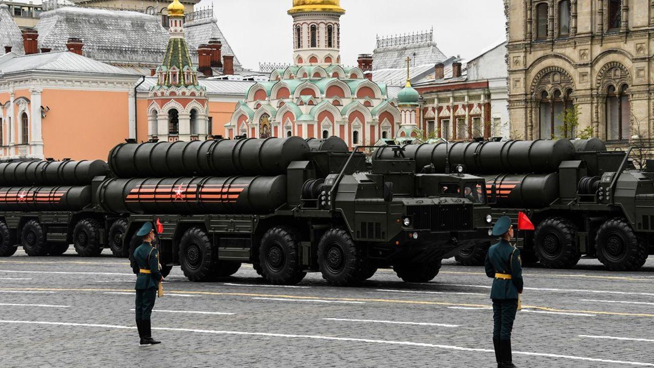 Un missile S-400 russe lors de la parade militaire du 9mai à Moscou pour la Fête de la victoire de la Seconde guerre mondiale.