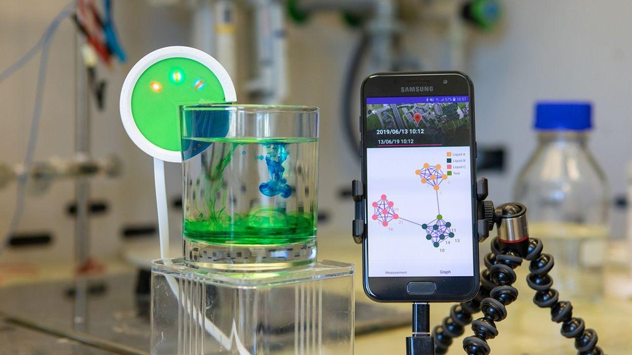 Début juillet, les laboratoires du géant américain de l'informatique ont en effet présenté Hypertaste, une « e-tongue » pouvant analyser la composition des liquides