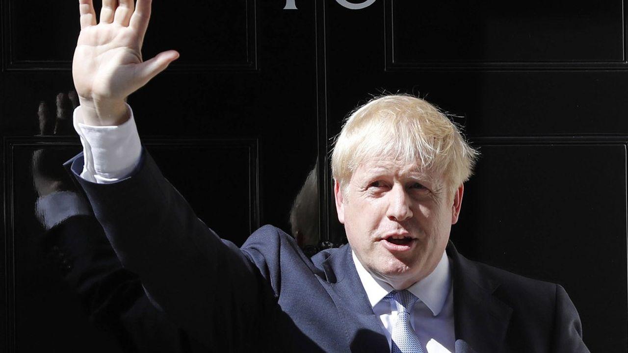 Boris Johnson à son arrivée au 10Downing Street, le 24juillet 2019.