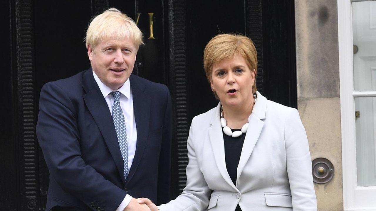 Boris Johnson et Nicola Sturgeon se sont rencontrés le 29juillet 2019 à Edimbourg pour discuter du Brexit.