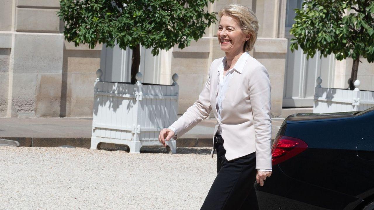 La présidente élue de la prochaine Commission européenne, l'Allemande Ursula von der Leyen, a rencontré Emmanuel Macron à l'Elysée, le 23 juillet.