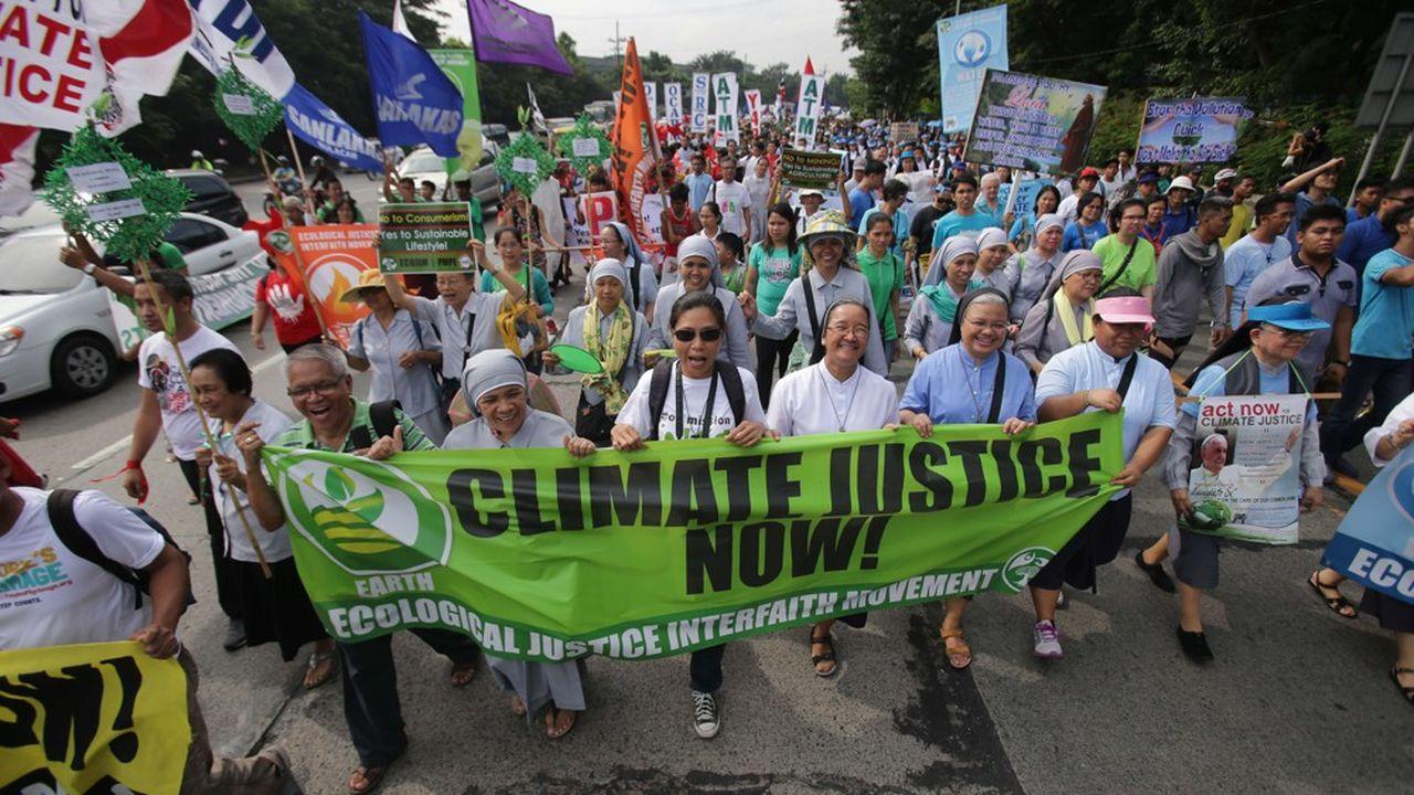Manifestation pour la défense de l'environnement à Quezon (au nord deManille) aux Philippines, pays où 30 militants ont été tués l'an passé.