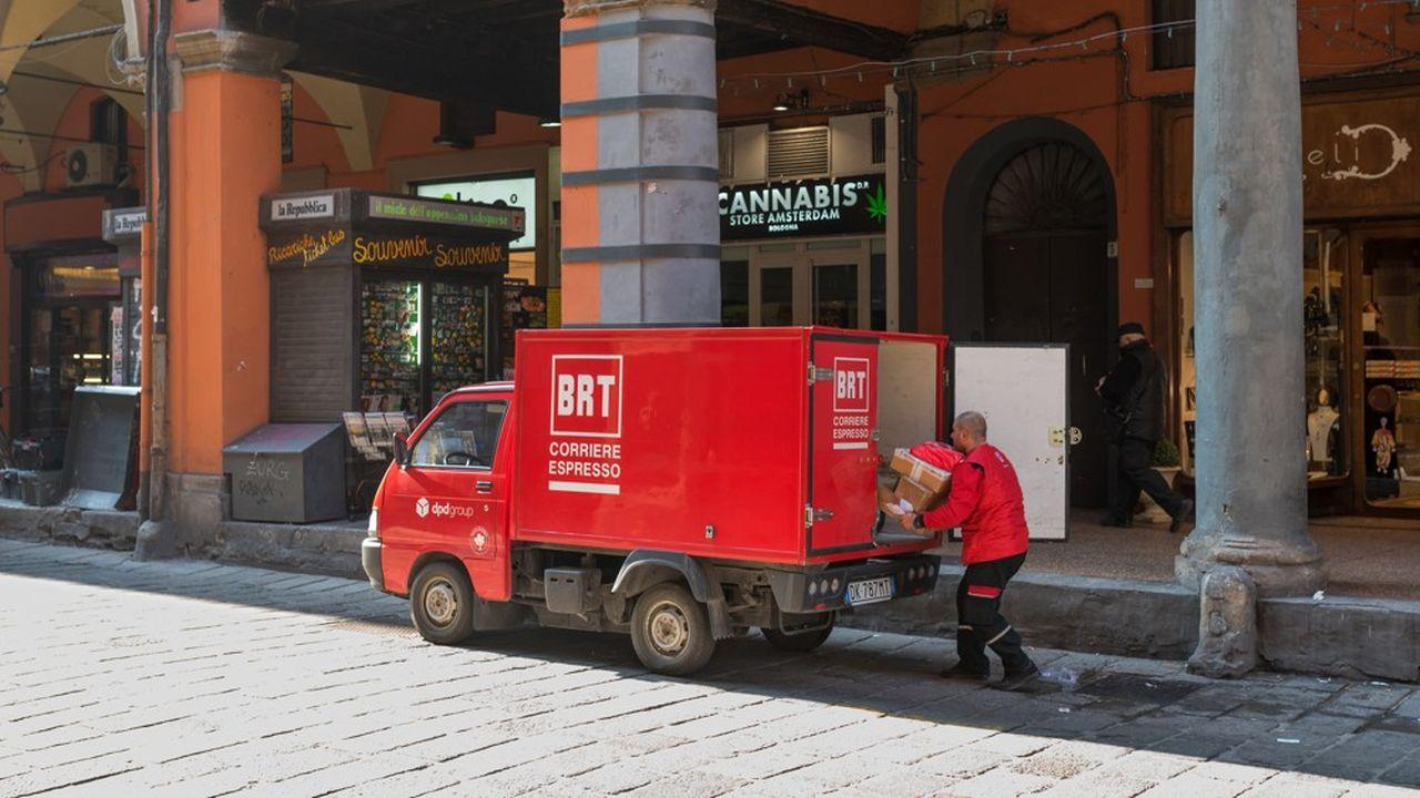 La livrée rouge des camions de BRT est un élément familier du décor des rues italiennes.