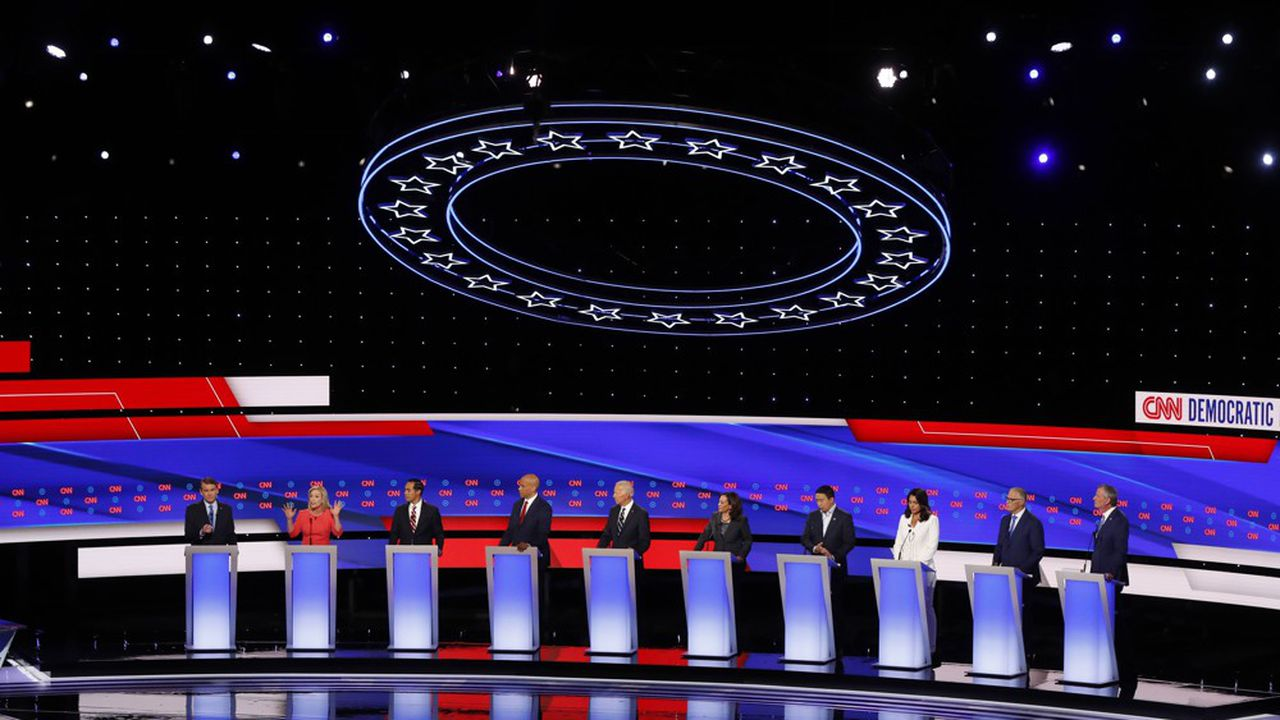 Le duel entre le favori des sondagesJoe Biden et la sénatrice de CalifornieKamala Harris a dominé le «show»