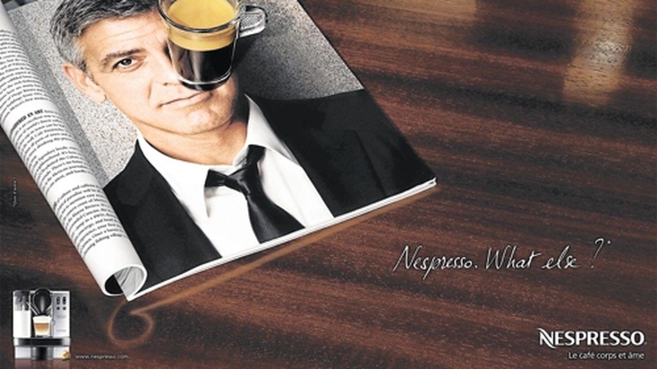 George Clooney et Nespresso | Les Echos