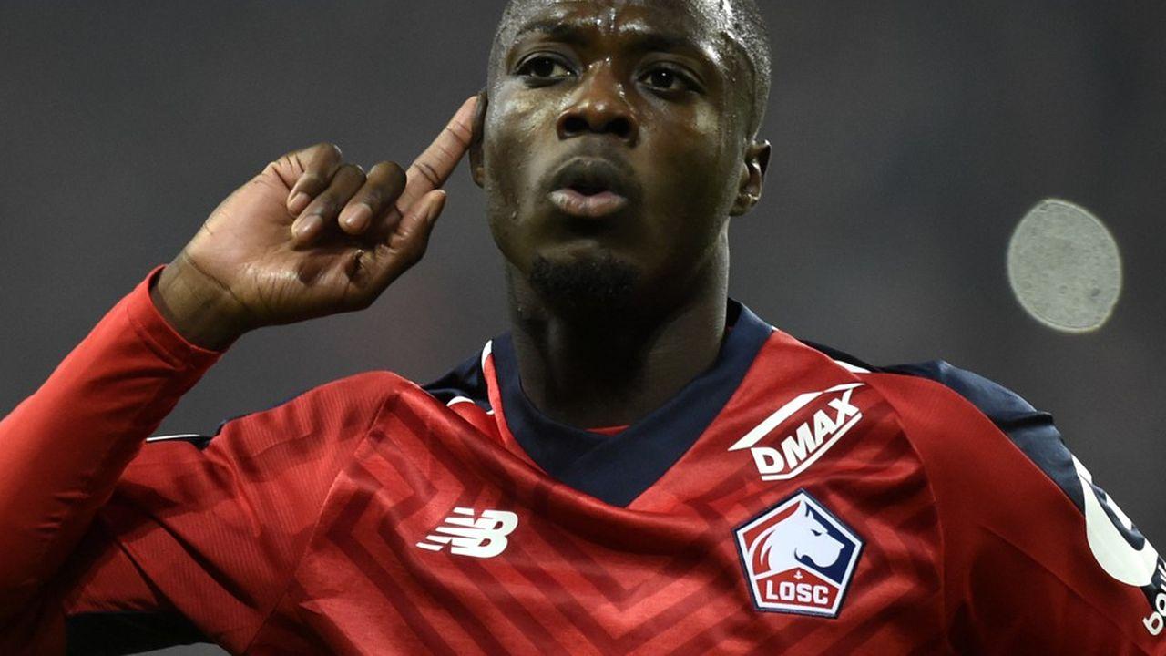 L'Ivoirien Nicolas Pépé a enchanté les supporters de Lille cette saison. Son avenir s'écrira désormais en Angleterre.