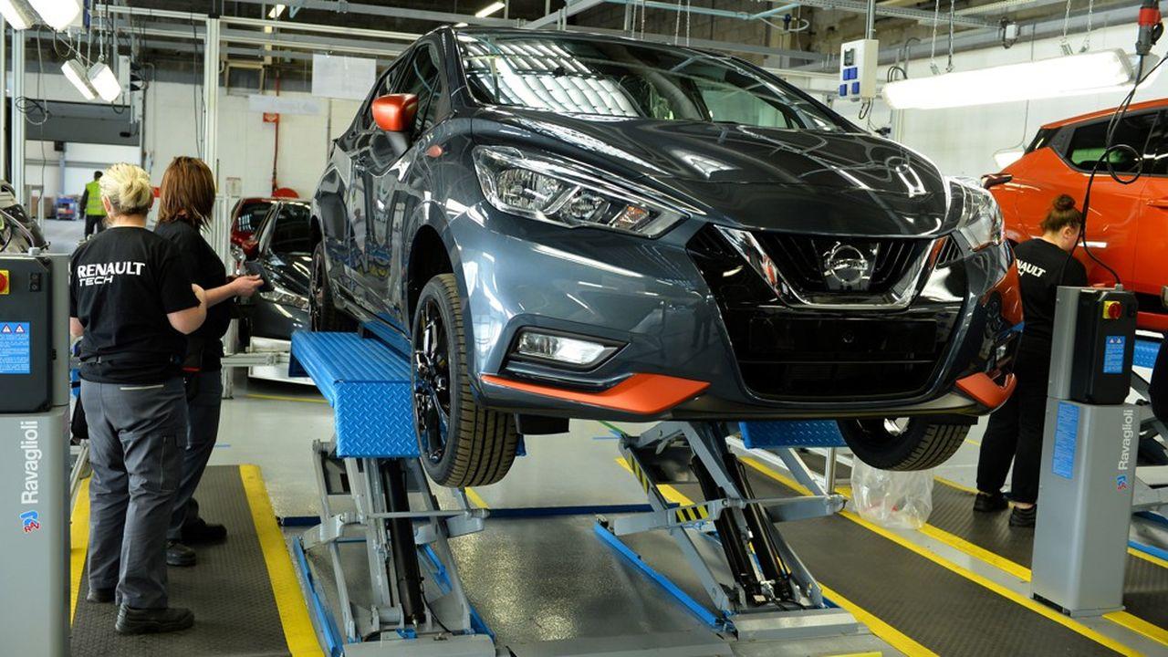 L'usine de Renault à Flins n'a produit que 74.000 Nissan Micra en 2018, loin des 100.000 à 130.000 unités par an attendues.