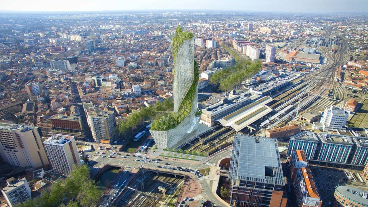 L'architecte Daniel Libeskind a dessiné une tour végétalisée en spirale de 40 étages, sous la forme d'une flèche effilée sur un socle.