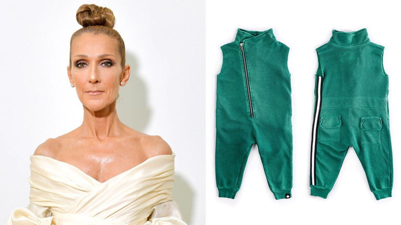 Céline Dionqui a gagné une fortune à las Vegas avec ses concerts, s'est engagée au côté d'une jeune marque israélienne de vêtements non genrés pour enfants. Nununu, propose des tenus mixtes, combinaisons, bodies, sweat et T shirts dans des coloris neutres, jaune, vert, noir ou gris