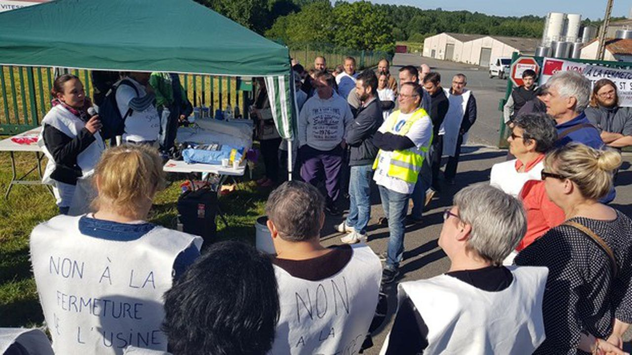 L'annonce de la fermeture de l'usine Savencia et d'un plan social pour le 31juillet avait déclenché une forte mobilisation des 97salariés.