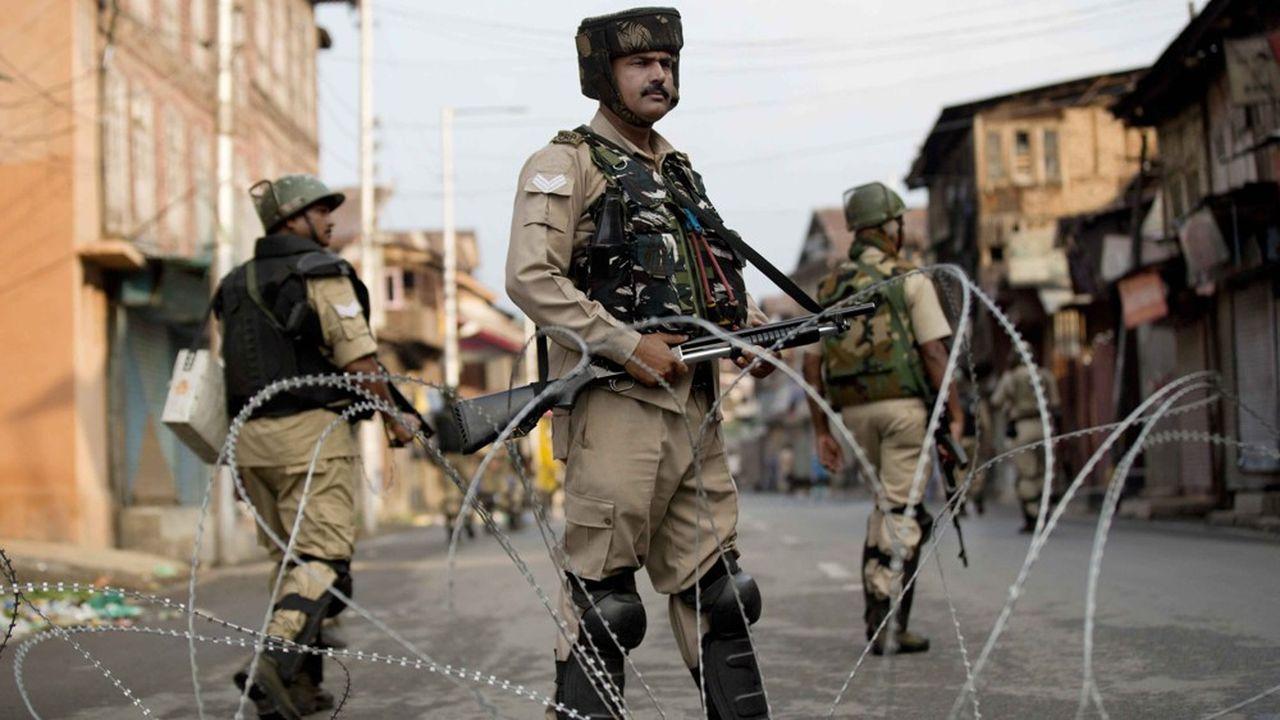 Des soldats indiens dans la région de Jammu, au Cachemire, en août2019.