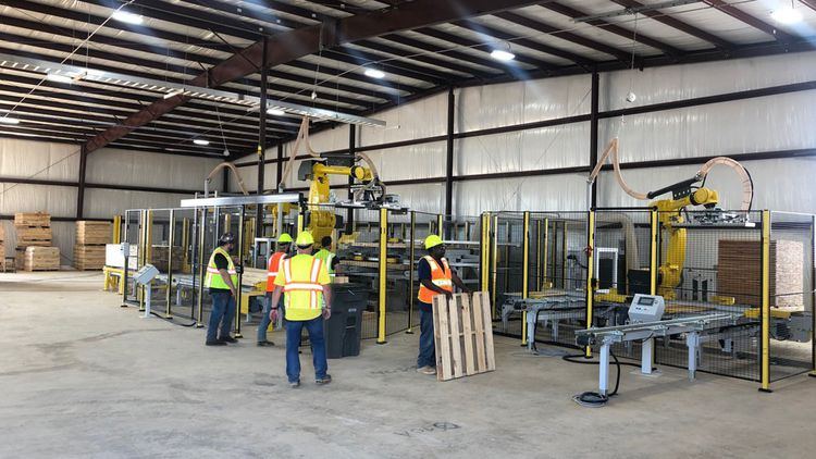Palette gestion service (PGS) est uneentreprise de reconditionnement de palettes en bois usagées