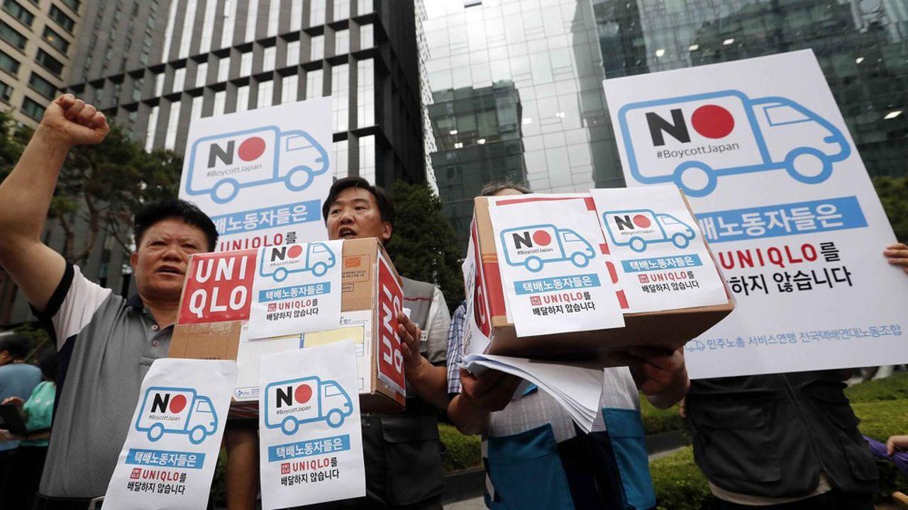 «Nous pouvons confirmer qu'il y a eu un impact sur les ventes en Corée», a confirmé ce vendredi une porte-parole de Fast Retailing, propriétaire d'Uniqlo.